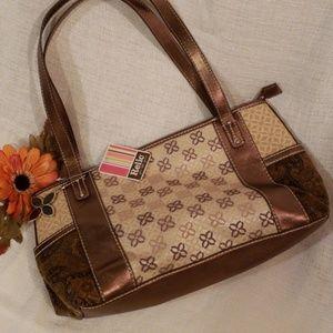 NWT Relic Shoulder Bag Side Pockets Bronze/Tan Med